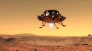 Видео посадки китайского аппарата «Чжужун» на Марс